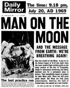 The Moon Landing as reported by the UK's Daily Mirror