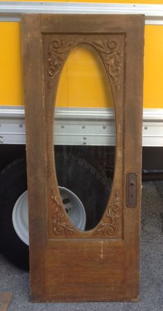 """Victorian Oval Beveled Glass Door with Carved Trim 32""""w x 79.5""""h  $525 Southern Accents Architectural Antiques 877-737-0554"""