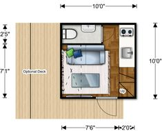"Sustainable Micro Home that Costs Less Than $30,000 - My Modern Metropolis. I am assuming the bathroom is a ""wet room""."