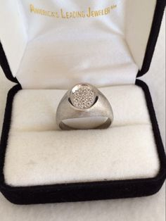 A personal favorite from my Etsy shop https://www.etsy.com/listing/264284728/10k-white-gold-satin-finish-10-diamonds