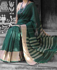 Elegant Woven Handloom Cotton Saree | India1001.com