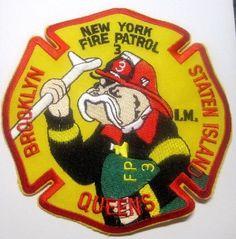 NEW YORK FIRE PATROL 3 BROOKLYN QUEENS STATEN ISLAND PATCH UNUSED
