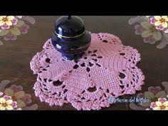 Carpeta o Centro de Mesa tejido con técnica de crochet - YouTube
