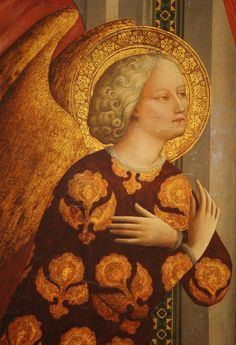 The Annunciation (detail), tempera (and possibly oil glazes), on panel, ca. 1423/1424, Masolino da Panicale (Florentine, ca. 1383-1435 or after), National Gallery of Art, Washington DC, 2012