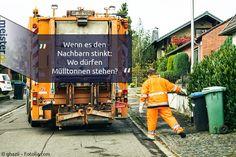 Die Mülltonnen stören den Nachbarn. Was sind Ihre Rechte?