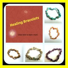 A natural health remedy. Bracelets infused with quartz and gemstone crystals and essential oils.