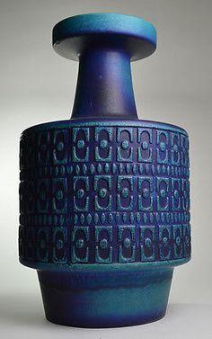Jasba-West-Germany-Pottery-Modernist-Mid-Century-Vintage-Retro-LARGE-FLOOR-VASE