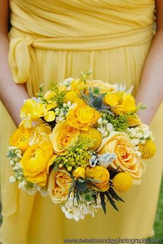 Yellow wedding -repinned by http://dazzlemeelegant.com