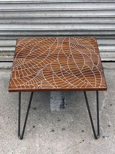 Interlap Walnut Side Table/Dining Table