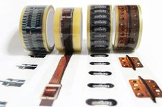 """nerdfluffery: """" A series of printed packaging tapes. """"X-tape series consists of X-tape:[hinge], X-tape:[o-ring], X-tape:[strap], X-tape:[tower bolt]. It visualize the function of packaging tape :. Duct Tape, Masking Tape, Washi Tapes, Scotch, O Ring, Optical Illusions, Inventions, Packaging Design, Tapas"""