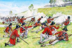 British redcoats at the Battle of Brandywine, September 11, 1777. On this day, the British forces under General Sir William Howe defeated the American Continental Army of General George Washington which nevertheless was able to retreat his forces in good order (...)