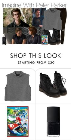 """Imagine With Peter Parker"" by fandomimagineshere ❤ liked on Polyvore featuring Monki, Nintendo, NARS Cosmetics, NYX, women's clothing, women's fashion, women, female, woman and misses"