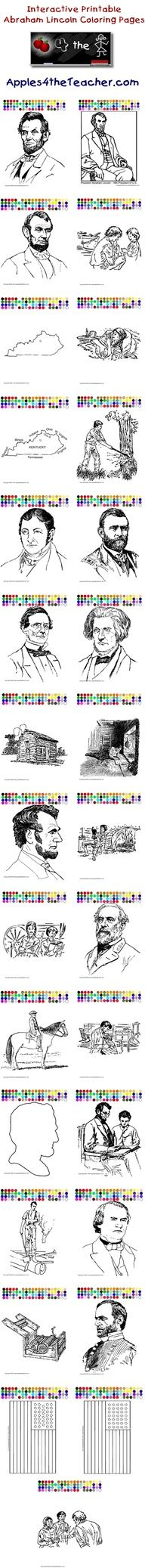 Printable interactive U.S. President coloring pages, U.S. Presidents ...