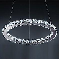 Swarvoski crystal circle pendant light