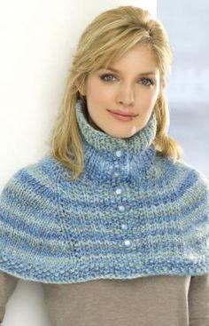 Neck Warmer Capelet Knitting Pattern | Red Heart