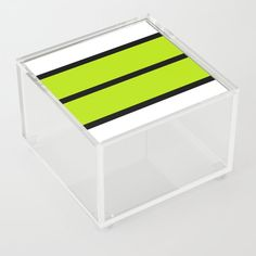Simple Stripes - Lime Green Acrylic Box by laec | Society6 Good Advice For Life, Storage Places, Acrylic Box, Lime, Stripes, Store, Green, Storage, Limes