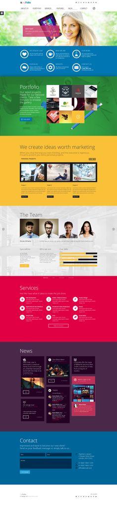 myFolio - Parallax Onepage HTML5 Template by DaJyDesigns.deviantart.com on @deviantART