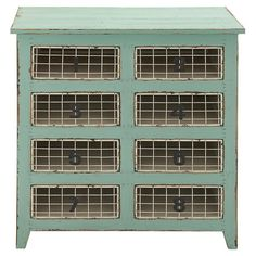 Pairing a rustic design with distressed vintage-style details, this flea market-chic chest is perfect for stowing sewing supplies or office essentials.