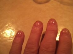 Stronger nails the first day!