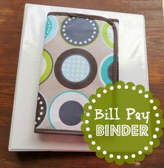Need to make one of these! BillPaybinder