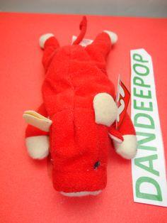 TY original Teenie Beanie Babie Snort Bull 1999 McDonald's Happy Meal Stuffed Animal Toy New find me at www.dandeepop.com