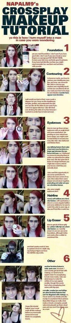 Crossplay Makeup Tutorial by *Napalm9 on deviantART #beautymakeuptutorial