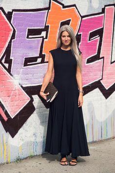 minimal sleeveless. #SarahHarris in NYC.