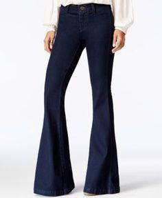 Free People Jolene Flared Perfect Navy Wash Jeans