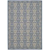 Found it at Wayfair - Courtyard Blue/Ivory Checked Rug