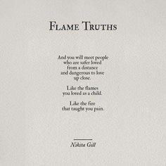 Flame truths by Nikita Gill