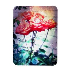 Flame Roses Flexible Magnet