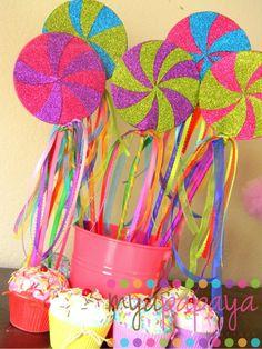 Candyland Lollipop WandsSet of Six Magical by MyaPapayaBoutique, $38.00