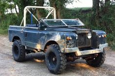 Land Rover #blue #openroof #old
