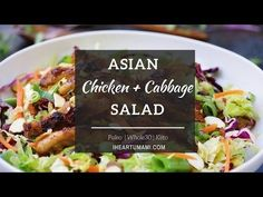 Paleo Asian Chicken Cabbage Salad (Whole30) | IHeartUmami.com