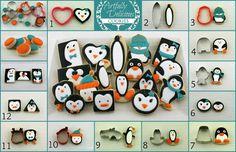 cupcake cookie cutter ideas | ... cutters Penquins | Decorated Cookie & Cupcake Ideas & Tip