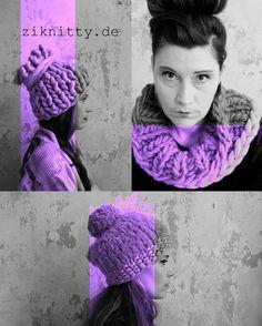 ziknitty knit design high fashion chunky hats and cosy headbands