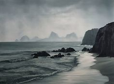 Rocky Coast original oil painting seascape ocean waves