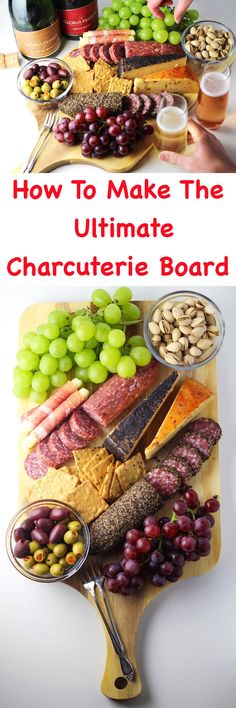 #ad How To Make The Ultimate Charcuterie Board, this is perfect for any Spring or Summer party! Tastefulventure.com made in partnership with @GloriaFerrerCaves&Vineyards #GloriaFerrer #CLVR