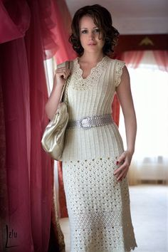 Elegant crochet dress pattern pdf by marifu6a on Etsy, $3.99