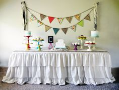Rustic Ruffled Tablecloth 3 tier design by RoxyHeartVintage