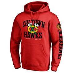 Men's Chicago Blackhawks Red Hometown Collection Pullover Hoodie