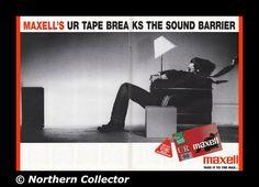1995 Maxell Tape Breaks Sound Barrier Centerfold Vintage Print Ad Specs Photo | eBay