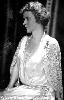Lady Nancy Astor.  Born in Danville, Virginia (USA), Nancy married Waldor Astor, 2nd Viscount Astor.  She was the first woman to sit as a member of Parliament (MP) in the British House of Commons.