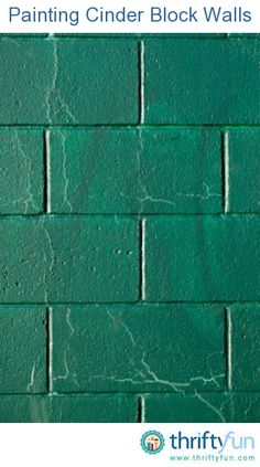 This is a guide about painting cinder block walls. Cinder blocks are a rather porous material and may require some special steps when painting, for best results. Cinder Block Paint, Cinder Block House, Cinder Block Bench, Cinder Blocks, Decorating Cinder Block Walls, Painting Concrete Walls, Concrete Block Walls, Cement Walls, Paint Brick