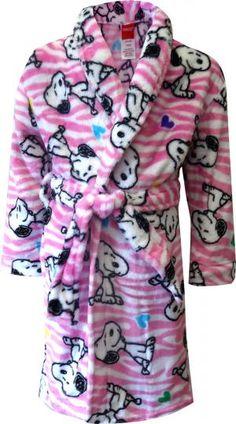 Peanuts Snoopy Pink Plush Robe