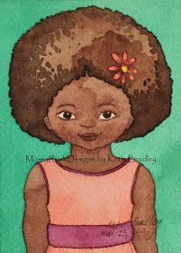 Precious Curls | Celebrate Natural Hair! - A Natural Hair Care and Styling Blog: Natural Hair Art: Mossy Rock Designs by Katie Bradley