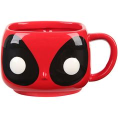Funko Marvel Deadpool Pop! Mug Hot Topic ($15) ❤ liked on Polyvore featuring home, kitchen & dining, drinkware and ceramic mugs