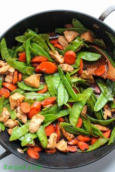Eat Good 4 Life Black bean chicken stir-fry with snow peas and carrots » Eat Good 4 Life