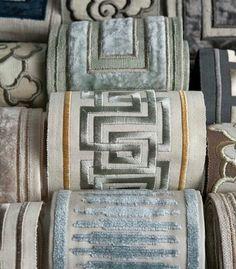 Image result for Cowtan Tout Linen Embroidered Insert Robert Allen Shimmer Linen