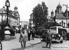 """Bucharest photos from the first decades of the century - mostly from the interwar period (between the two World Wars). ♦ The end of """"Little Paris"""" (click photo) ♦ Old Pictures, Old Photos, Vintage Photos, Main Street, Street View, Brasov Romania, Little Paris, Architecture Images, Old Photography"""